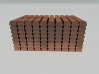 3ds max copper bars