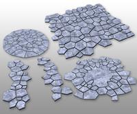 3d stone tile model