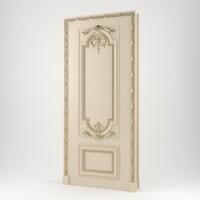 maya realistic classic door
