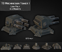 3ds max td machinegun tower 01