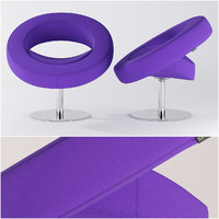 3d model softline hello chair