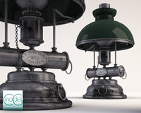 3d model of old lamp moretti