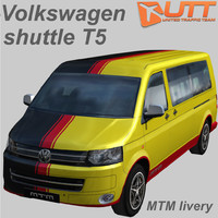 3d volkswagen transporter shuttle mtm model