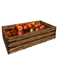 3d model box apples