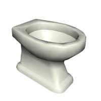 3d model toilet pan