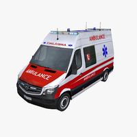 3ds photorealistic mercedes sprinter 2014