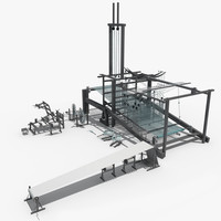 3d weaving machine model