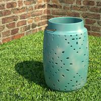 3ds max ceramic lantern