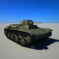 soviet tank t-60 3d max