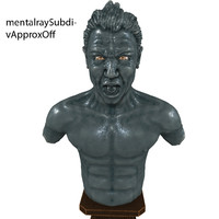 angry man 3d model