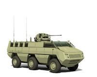 3dsmax armoured mbombe 6x6