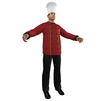 chef hat 3d obj
