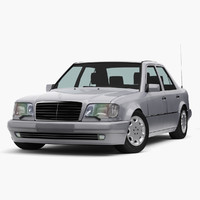 mercedes-benz e-class e500 w124 3d model