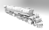 3ds big boy locomotive steam