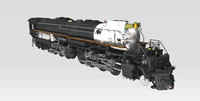big boy locomotive union pacific 3d model