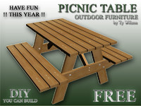 free table picnic 3d model