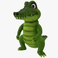 maya cartoon crocodile