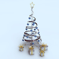 3d design christmas tree metal