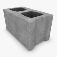 3dsmax realistic cinder block