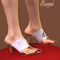 dessert heel shoes 3d model