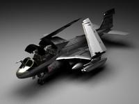 grumman ea-6b prowler 3d model