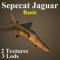 sepecat basic 3d model