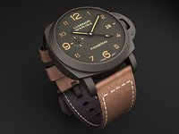 watch mens panerai 3d 3ds