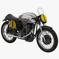 3d model road racing motorcycle norton