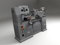 lathe machine 3d max