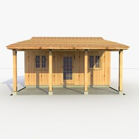 3d model of shed lumber