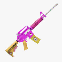 3d m4a1 carbine anime kitty model