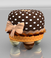 children tuffet chocolate miss 3d model