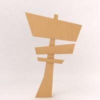 3d sign board model