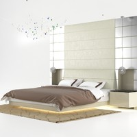 classic bedroom design 3d model