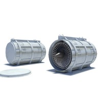 3 moel turbofan container