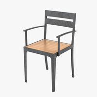 3d model outdoor chair