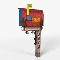 mailbox realistic 3ds