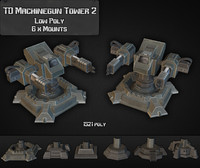 3ds max td machinegun tower 02