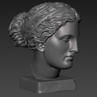3d model of printable aphrodite head