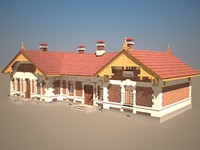 historic house 3d max