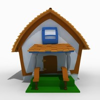 3dsmax house toon