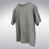 s t-shirt gray 3d model