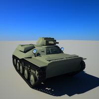 3d model soviet tank t-40