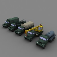 czechoslovakia cars 3d model