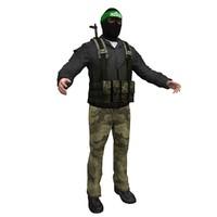 3d hamas terrorist model