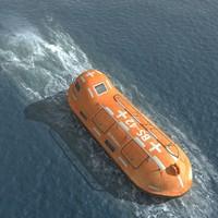 life boat 3d max