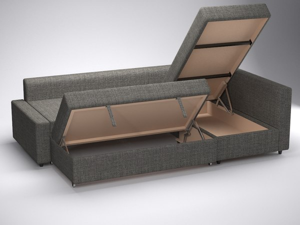 Corner Sofa Bed Friheten Ikea 3d 3ds Of Pictures