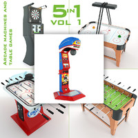 3d model arcade machines table games