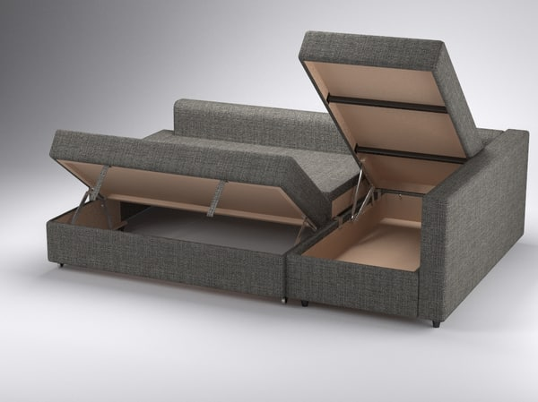 Ikea Friheten Replacement Cushions ~   friheten ikea 3d 3ds  corner sofa bed FRIHETEN of IKEA  by piren