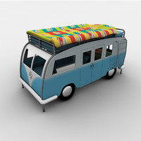 3d model childrens bed campervan